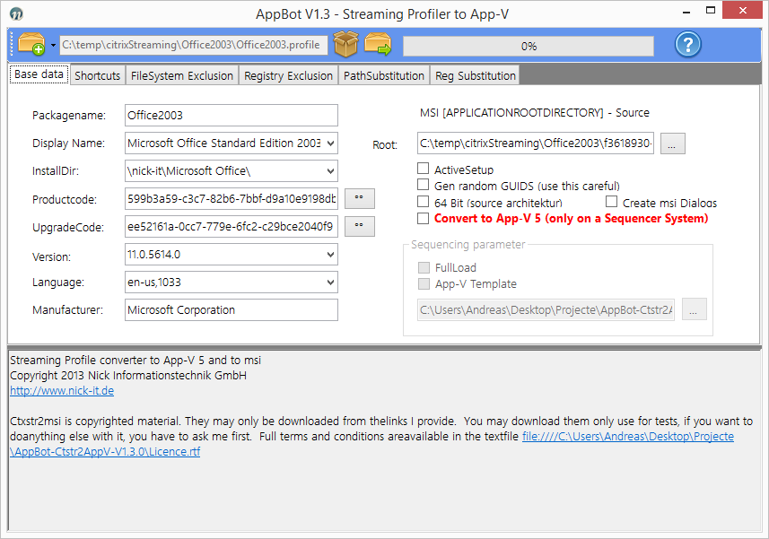 AppBot Citrix Application Streaming to AppV converter